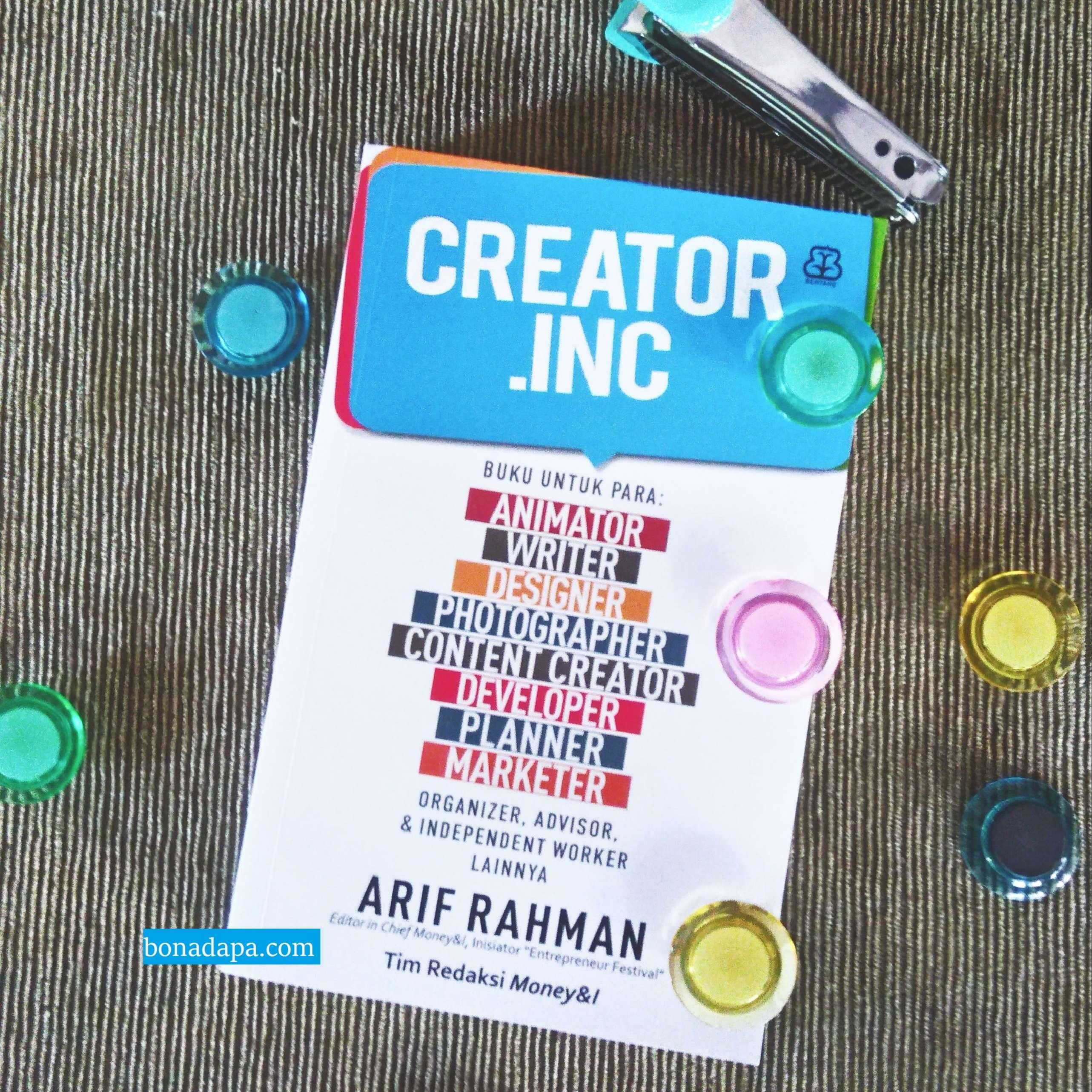 Review Buku : Creator.Inc, Bukunya Para Kreator Indonesia